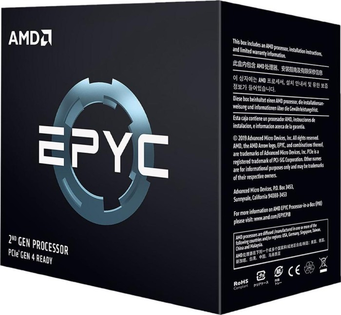 AMD Epyc 7702P, 64x 2.00GHz, boxed ohne Kühler (100-100000047WOF)