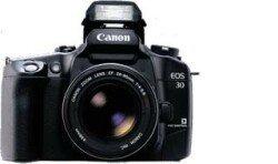 Canon EOS 30 (SLR) z obiektywem innej marki