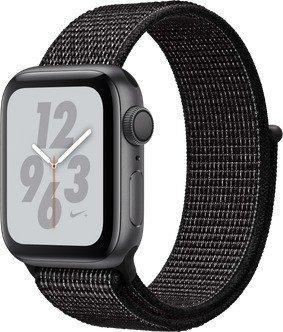 Apple Watch Nike+ Series 4 (GPS) Aluminium 40mm grau mit Sport Loop schwarz (MU7G2FD/A)
