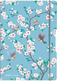 Herlitz my.book flex Notizheft Kunststoff A5, Ladylike Birds, kariert, 40 Blatt (50021505)