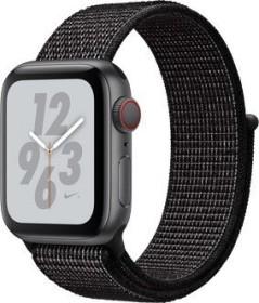 Apple Watch Nike+ Series 4 (GPS + Cellular) Aluminium 40mm grau mit Sport Loop schwarz (MTXH2FD/A)