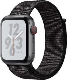 Apple Watch Nike+ Series 4 (GPS + Cellular) Aluminium 44mm grau mit Sport Loop schwarz (MTXL2FD/A)