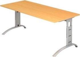 Hammerbacher Ergonomic Plus F-Serie FS19/6, Buche, Schreibtisch