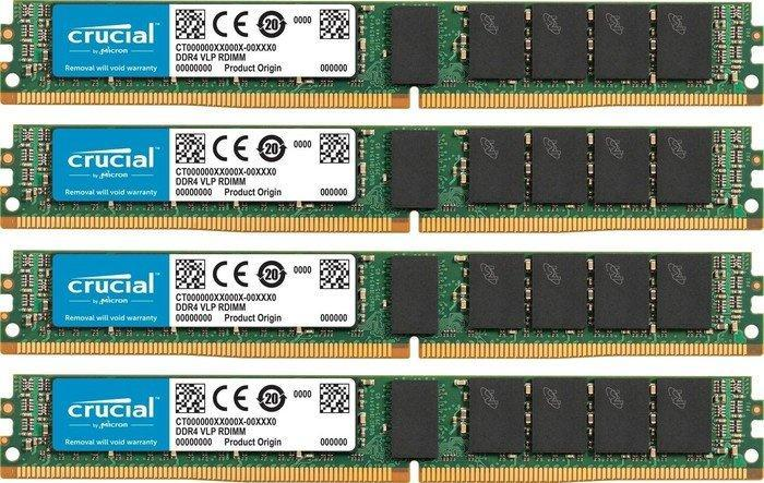 Crucial VLP DIMM Kit 64GB, DDR4-2133, CL15, reg ECC (CT4K16G4VFD4213)