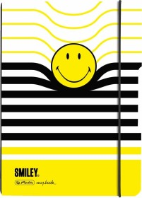 Herlitz my.book flex Notizheft Kunststoff A5, Smiley, kariert, 40 Blatt (50016037)