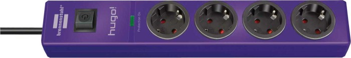 Brennenstuhl Hugo extension socket with surge protection purple 4-way, 2m (1150610334)