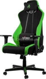 Nitro Concepts S300 Atomic Green Bürostuhl, schwarz/grün (NC-S300-BG)