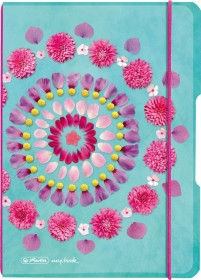 Herlitz my.book flex Notizheft Kunststoff A5, Flowers, kariert, 40 Blatt (50016426)