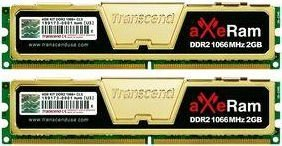 Transcend aXeRAM DIMM kit 4GB, DDR2-1066, CL5-5-5-15 (TX1066QLU-4GK)