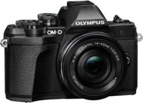 Olympus OM-D E-M10 Mark III schwarz mit Objektiv M.Zuiko digital 14-42mm EZ und ED 40-150mm R (V207074BE000)