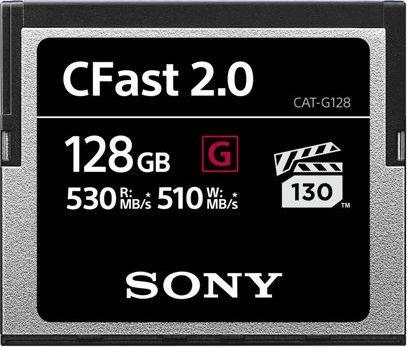 Sony G-Series R530/W510 CFast 2.0 CompactFlash Card [CFAST2.0] 128GB (CAT-G128)