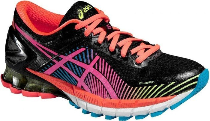 Asics Gel-Kinsei 6 black/hot pink/flash yellow (Damen) (T692N-9034)