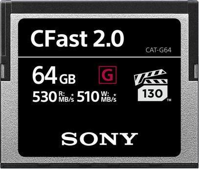 Sony G-Series R530/W510 CFast 2.0 CompactFlash Card 64GB (CAT-G64)