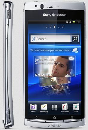 Sony Ericsson Xperia arc S misty silver