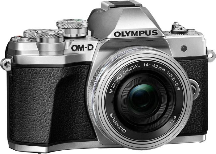 Olympus OM-D E-M10 Mark III silber mit Objektiv M.Zuiko digital 14-42mm EZ und ED 40-150mm R (V207074SE000)
