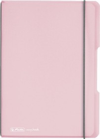 Herlitz my.book flex Notizheft Kunststoff A5, rose, kariert, 40 Blatt (11408622)