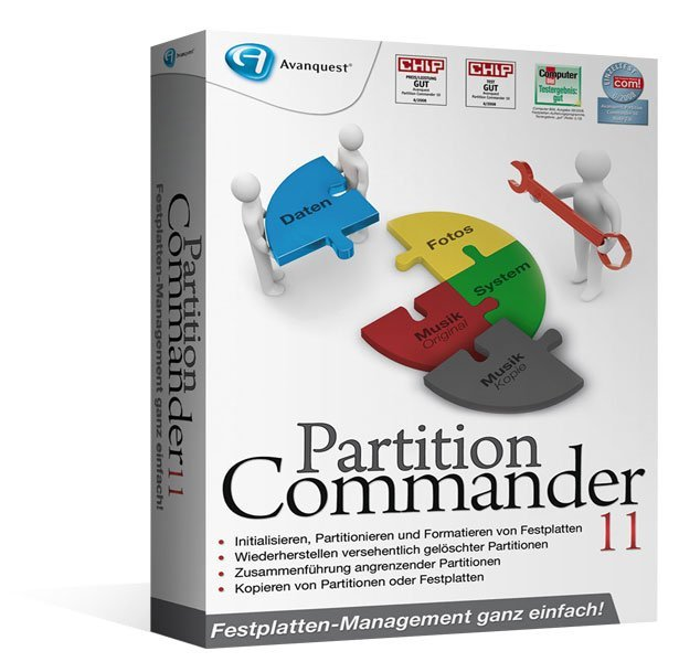 Avanquest: Partition Commander 11.0 (deutsch) (PC)