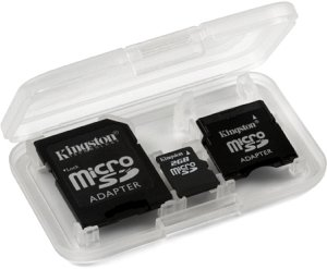 Kingston microSD 2GB with 2 adapters (SDC/2GB-2ADP)