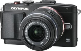 Olympus PEN E-PL6 schwarz mit Objektiv M.Zuiko digital 14-42mm II (V205051BE000)