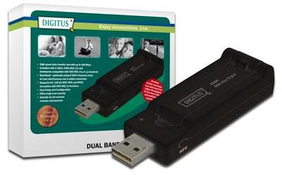 Digitus DN-70650, 450Mbps Dual Band, USB 2.0