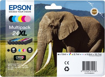 Epson 24XL ink multipack (C13T24384010) -- via Amazon Partnerprogramm