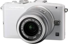 Olympus PEN E-PL6 weiß mit Objektiv M.Zuiko digital 14-42mm II (V205051WE000)