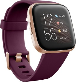 Fitbit Versa 2 Fitness-Smartwatch bordeaux (FB507RGRW)