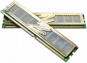 OCZ Gold GX XTC Revision 2 DIMM Kit  2GB PC2-6400U CL4-5-5-15 (DDR2-800) (OCZ2G800R22GK)