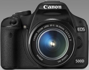 Canon EOS 500D black with lens EF-S 18-55mm 3.5-5.6 IS (3820B019)