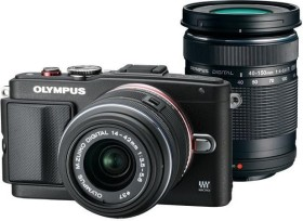 Olympus PEN E-PL6 schwarz mit Objektiv M.Zuiko digital 14-42mm II und M.Zuiko digital ED 40-150mm (V205052BE000)