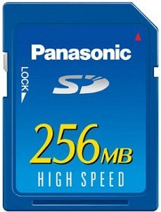 Panasonic SD Card High Speed  256MB (RP-SD256BE1A)