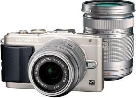 Olympus PEN E-PL6 silber mit Objektiv M.Zuiko digital 14-42mm II und M.Zuiko digital ED 40-150mm (V205052SE000)