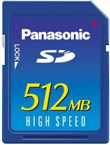 Panasonic SD Card High Speed 512MB (RP-SD512BE1A)