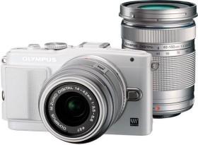 Olympus PEN E-PL6 weiß mit Objektiv M.Zuiko digital 14-42mm II und M.Zuiko digital ED 40-150mm (V205052WE000)
