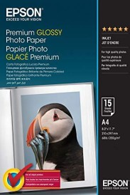 Epson photo paper A4, 255g/m², 15 sheets (S042155)