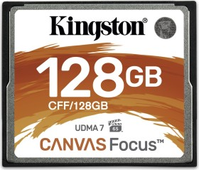 Kingston Canvas Focus R150/W130 CompactFlash Card 128GB (CFF/128GB)