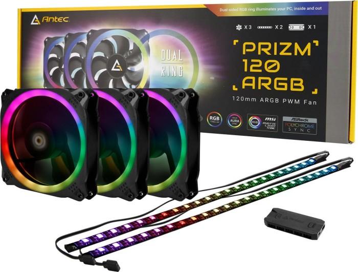 Antec Prizm 120 ARGB 3+2+C, 120mm, 3-pack, LED control (0-761345-77511-3)