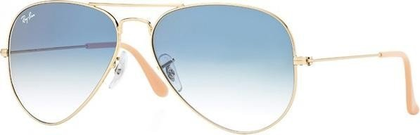 ray ban aviator gold blau