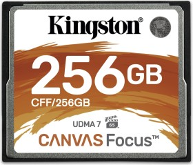 Kingston Canvas Focus R150/W130 CompactFlash Card [CF] 256GB (CFF/256GB)