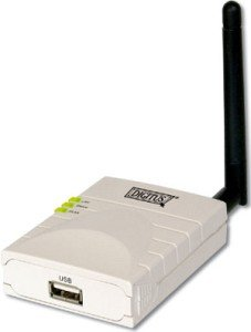 Digitus DN-13014, wireless print server, 54Mbps, USB 2.0