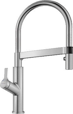 Blanco Solenta-S HD lever left stainless steel finish UltraResist (522405)