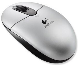 Logitech OEM R95 Cordless Optical Wheel Mouse, PS/2 & USB (953702-0600)