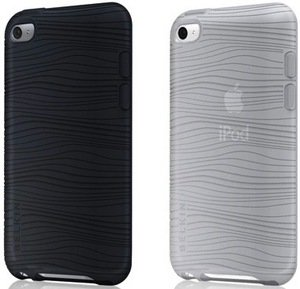 Belkin Grip Groove Duo for iPod touch 4G silicone sleeve black/white (2-pack) (F8Z652cwC00)