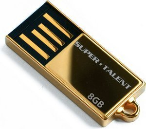 Super Talent Pico-C Gold  64GB, USB-A 2.0 (STU64GPCG)