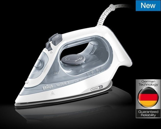 Braun SI 3054 GY TexStyle 3 steam iron