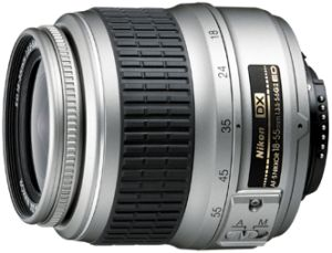 Nikon AF-S DX 18-55mm 3.5-5.6G ED II silber (JAA797DA)