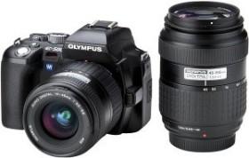 Olympus E-500 schwarz mit Objektiv 14-45mm 3.5-5.6 und 40-150mm 3.5-4.5 (E0413028)