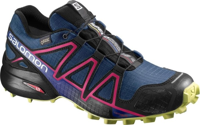 Salomon Speedcross 4 GTX Damen Trailrunning-Schuhe, Blau (Poseidon/Virtual Pink/Sunny Lime), 37 1/3 EU