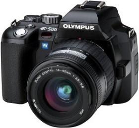 Olympus E-500 schwarz mit Objektiv 14-45mm 3.5-5.6 (N2142592/E0413908)