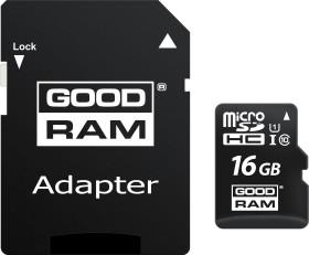 Goodram M1AA R100 microSDHC 16GB Kit, UHS-I U1, Class 10 (M1AA-0160R12)